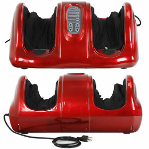 Foot Massager Machine Shiatsu Home Red With Switchable Massage Kneading Rolling