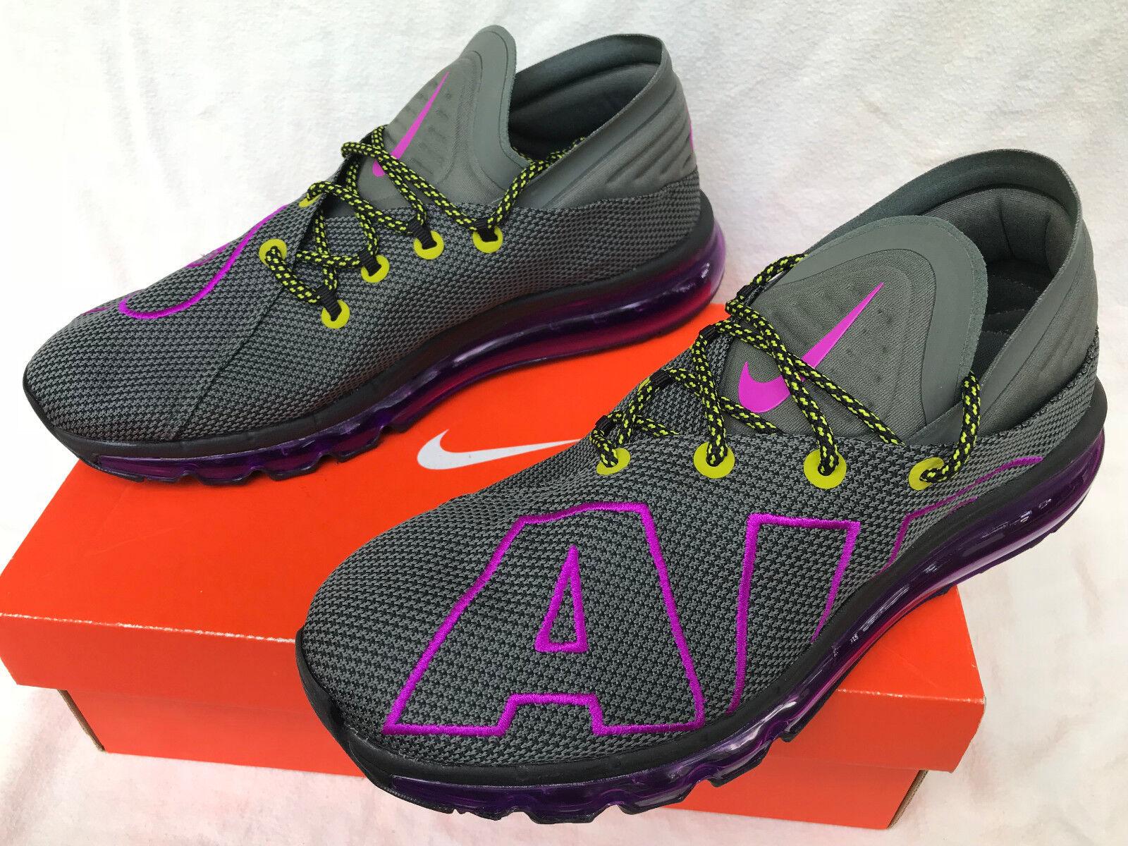 Nike Air Max Flair Uptempo AH9711-001 Gray 360 Marathon Marathon Marathon Running Shoes Men's 11 7cd5b5