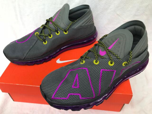 Nike Air Max Flair Uptempo AH9711 001 Gray 360 Marathon Running Shoes Men's 9.5