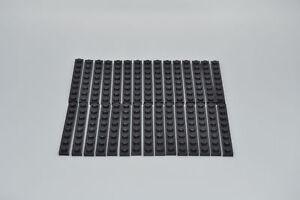 LEGO 30 x Basisplatte 1x8 schwarz black basic plate 3460 346026