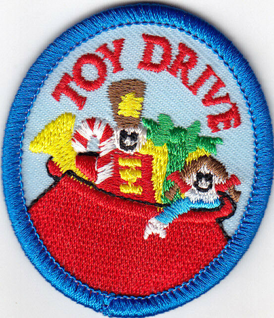 """TOY DRIVE"" Iron On Patch Charity Children Donation Gift"