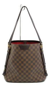 b8a96f22e961e3 Image is loading Louis-Vuitton-Cabas-Rivington-Shoulder-Bag-Damier-Canvas-