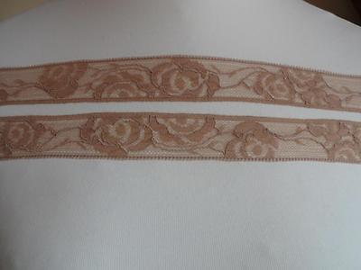1,99€//m-Französische elastische Spitzenborte in weinrot bordeaux 2m x 4,5cm