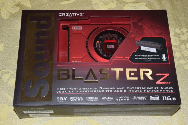 Creative Sound Blaster Z PCIe Gaming Audio Card w High Performance  Headphone Amp