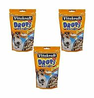 Vitakraft Drops With Yogurt Dog Treat Snacks - 3 Pack Free Shipping