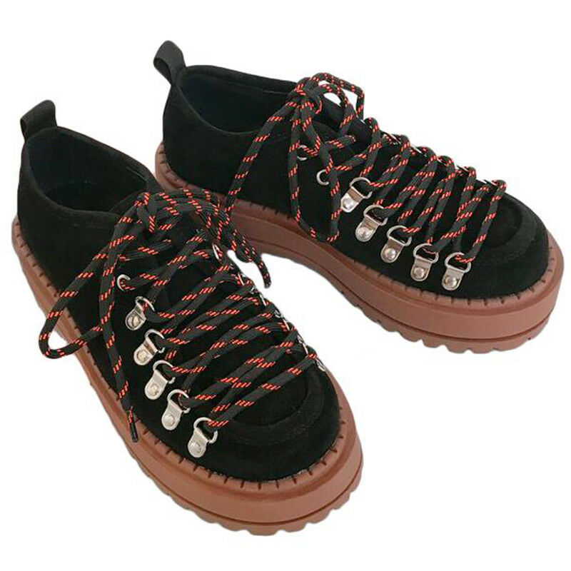 Rétro Rock Filles Femme Gothique Oxford Lace Up High Plateforme Creepers chaussures
