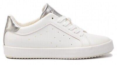 GEOX SP BLOMIEE D926HB scarpe donna sneakers pelle zeppa casual bianco argento | eBay