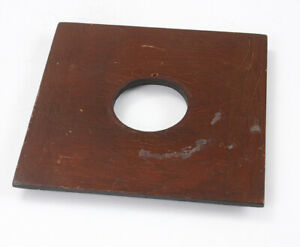 LENS BOARD, FOUR INCHES SQUARE, 3-9/16 INCH INNER STEP, 32MM HOLE/182113
