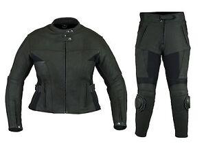 Nouvelle-de-haute-qualite-2-piece-Femmes-Cuir-Combi-noir-cuir-de-vachette-taille-xs-a-xl