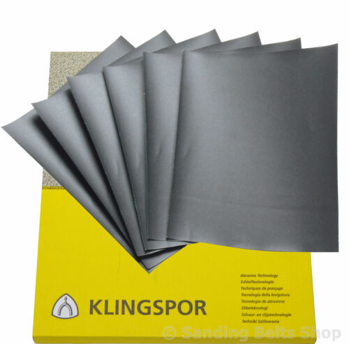 WET AND DRY PAPER   600 800 1000 2000 2500 GRIT   Mixed grit 10 sheet Klingspor