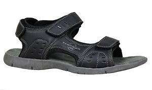 Hommes Man's Chaussures Sandales Tongs Casual Hanson Noir Mer Linea xQCBdoWre