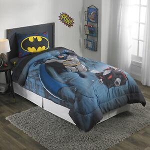 Batman Kids Bed Sheet Set Twin Size Boys Reversible Batman ...
