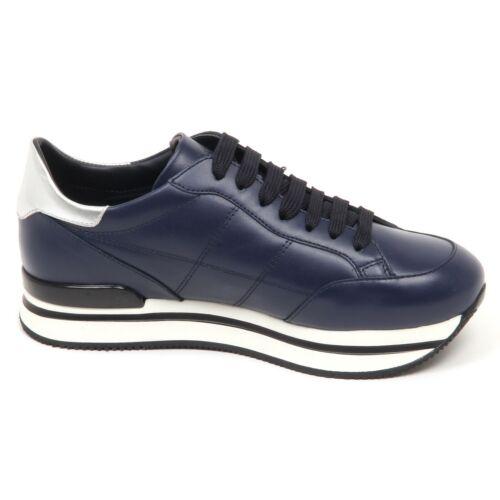 E4438 sneaker donna blu HOGAN H222 H cucitura shoe woman