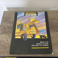 Gradall G3wd Brochure Manual Book