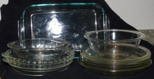 "CASSEROLE LOAF PIE PLATES  /""REDUCED/"" PYREX KITCHEN BAKEWARE PIE PANS"