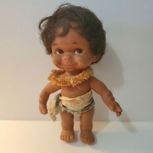 """Vintage Regal Toy 6"""" Doll Native Outfit w/ Lei"""