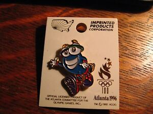 Atlanta-Olympics-Lapel-Pin-Vintage-1996-Georgia-Olympic-Games-Izzy-Mascot-Pin
