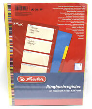 Eurolochung Herlitz Ringbuchregister A4 5-teilig mit Indexblatt PP-Folie