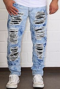 Mens-Jeans-Chino-Pants-Cracks-Chinos-Cargo-Destroyed-Cracks-Clubwear-NEW-j-3-2