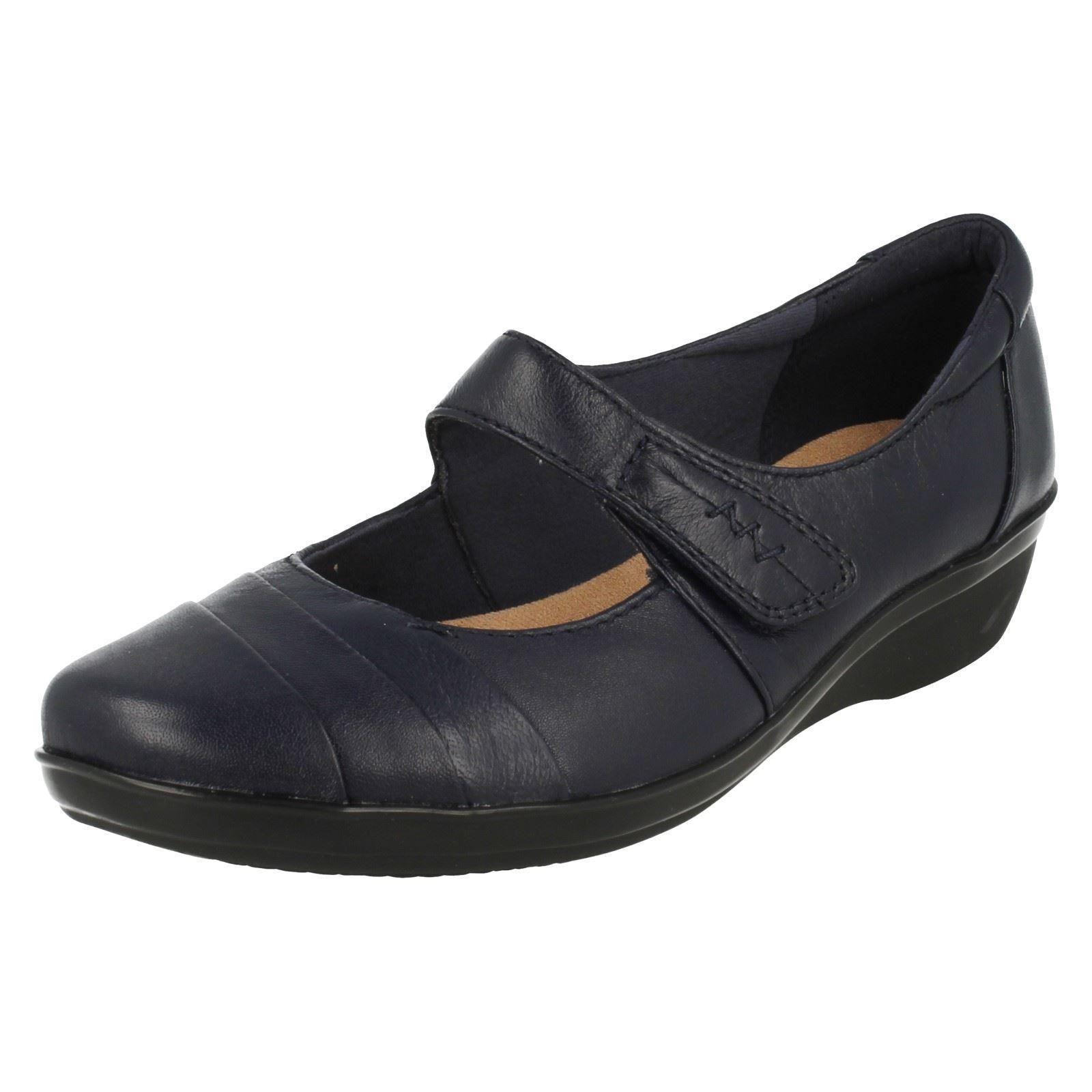 LADIES CLARKS NAVY Schuhe STYLE EVERLAY KENNON