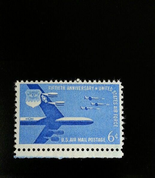 1957 6c Air Force 50th Anniversary, Air Mail Scott C49