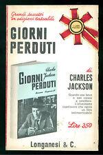 JACKSON CHARLES GIORNI PERDUTI ROMANZO LONGANESI 1967 I LIBRI POCKET 76