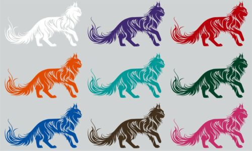 Cat Tribal Animal Pet Truck Car Tattoo Window Laptop Vinyl Decal Sticker