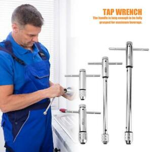 Reversible-T-Handle-Ratchet-Single-Tap-Holder-Wrench-Tapping-Threading-Hand-Tool