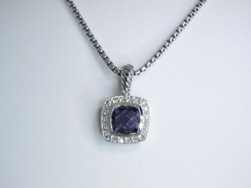 DAVID YURMAN PETITE ALBION 7MM AMETHYST DIAMOND 17 INCH ADJUSTABLE NECKLACE