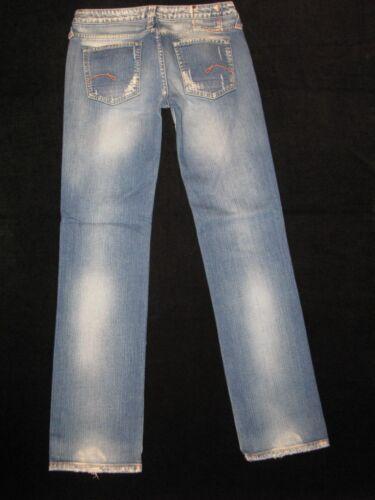 28 G Femmes Jeans star Brut Droite Délavé Italien Lavage Sz Coeur Coupe qwBqPr