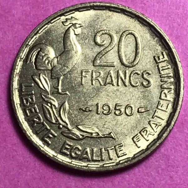 #664 - 20 Francs 1950 Georges Guiraud 3f Spl - Facture PréParer L'Ensemble Du SystèMe Et Le Renforcer