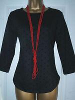 Ladies MARKS & SPENCER Black Smart Top M&S Spot Evening Blouse Size 10 - 22