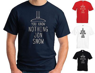 Vous ne connaissez rien jon snow inspiré jeu des trônes unisexe T-shirt