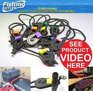 10x  Nylon  Fishing Rod Tie Holder Strap Suspender Closure Hook Loop Cable Cord