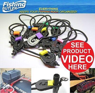 5 - 2pks Fishing Butler Ultimate Fishing Rod Ties, 10 tools total.