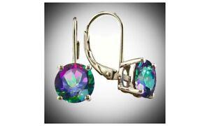 Stunning-Teardrop-Drop-Dangle-CZ-14K-Mystic-Topaz-Earrings-For-Women-HOT-SELLING