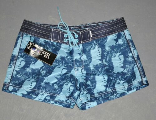"NWT ""THE DOORS"" Dragonfly Girls Juniors Blue BOARD SHORTS Morrison Swimming 5+9"