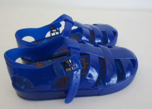 R1B Spot On H0R178  Childrens Jelly Sandals Navy UK C10 J1