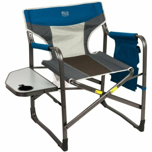 2 Pack Timber Ridge Portable Folding Camping Directors Chair with Side Table