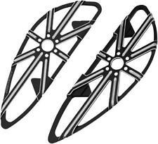 Arlen Ness 10-Gauge Adjustable Driver Floorboards Black #06-861 Harley Davidson