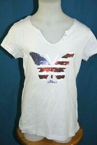 IKKS-Fille-6-ans-superbe-haut-top-tee-shirt-manches-courtes-blanc-T-shirt