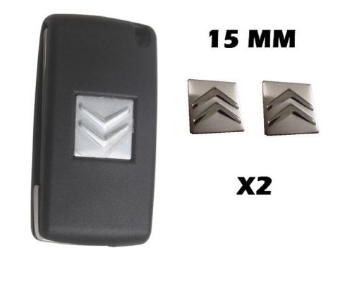 2x NEW Remote Key Fob Badge Emblem Sticker Logo for Citroen 15mm