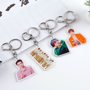 Kpop-EXO-kai-Summer-Acrylic-Keychain-Xiumin-Baekhyun-Fashion-Bag-Pendant-Charm