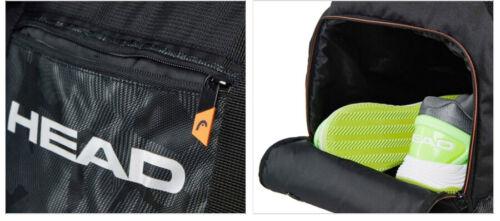 Details about  /HEAD Tour Team Sports Bag Tennis Duffle Bag Racquet Racquet Black NWT 283158