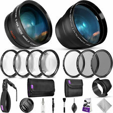 52MM Lens & Filters Accessory Kit for Nikon D7100 D5300 D5200 D3300 D3200 DSLR