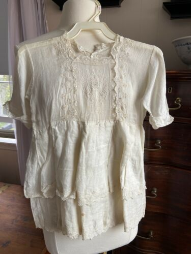 Antique Victorian Baby Doll Gown Dress w/ Lace