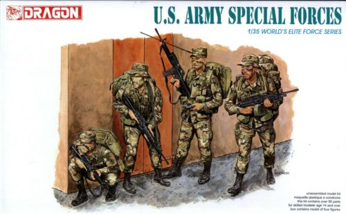 Dragon 135 3024 US Army Special Forces World's Elite Force Series 4 Figures