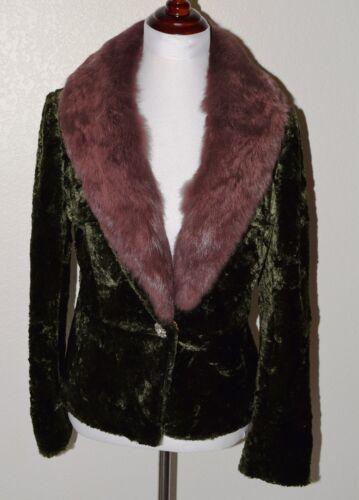 superbe belle classe de sexy cou veste de de fourrure lapin velours de Manteau de 7qHxwnvCq