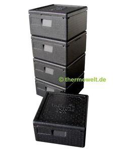 5-x-Profi-Thermobox-Pizza-Isolierbox-Pizzabox-schwarz-175mm-Nutzhoehe