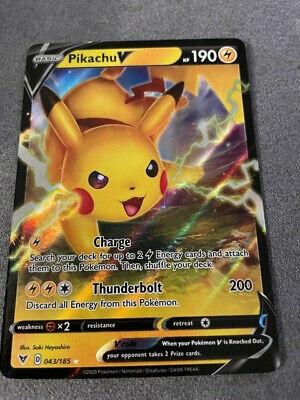 Pikachu V Pokemon Vivid Voltage pack fresh 043//185 Rare Holo Card